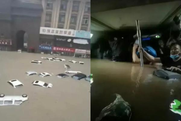 河南洛陽1名蘆姓女子於20日傍晚,搭乘鄭州地鐵5號線,卻遇上地鐵淹水事故,丈夫聯繫不上人,苦等一夜,最終竟接獲愛妻罹難的噩耗。(圖擷取自微博)