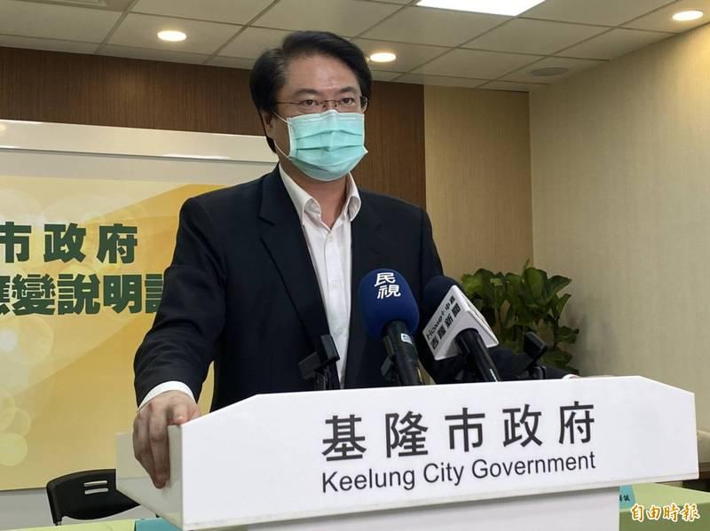針對台北市長柯文哲嗆衛生福利部醫福會執行長王必勝「只會看一看、講一講、沒貢獻」,基隆市長林右昌今天說,「人在做天在看,公道自在人心」。(記者俞肇福攝)