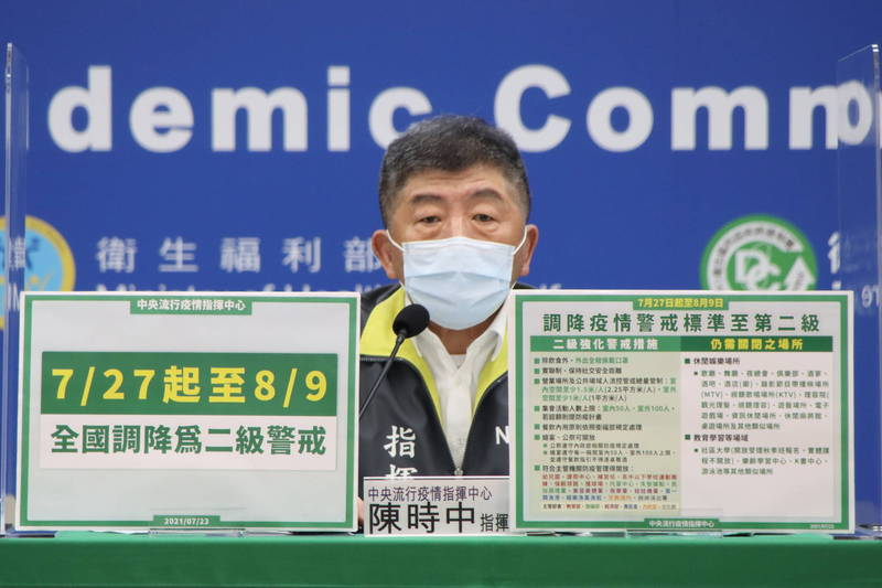 中央流行疫情指揮中心指揮官陳時中。(指揮中心提供)