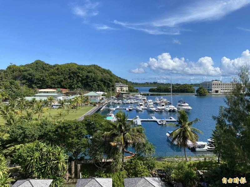 圖為帛琉老爺酒店旁碼頭。(資料照)