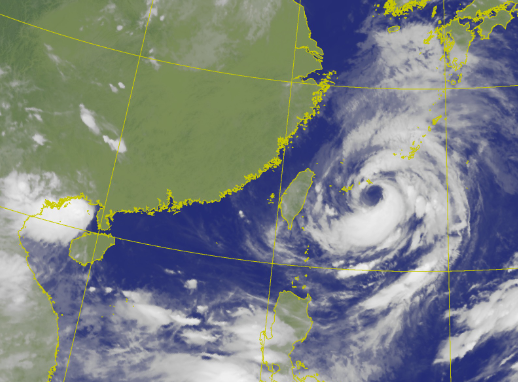 今晨6時10分衛星雲圖畫面。(圖擷取自中央氣象局)