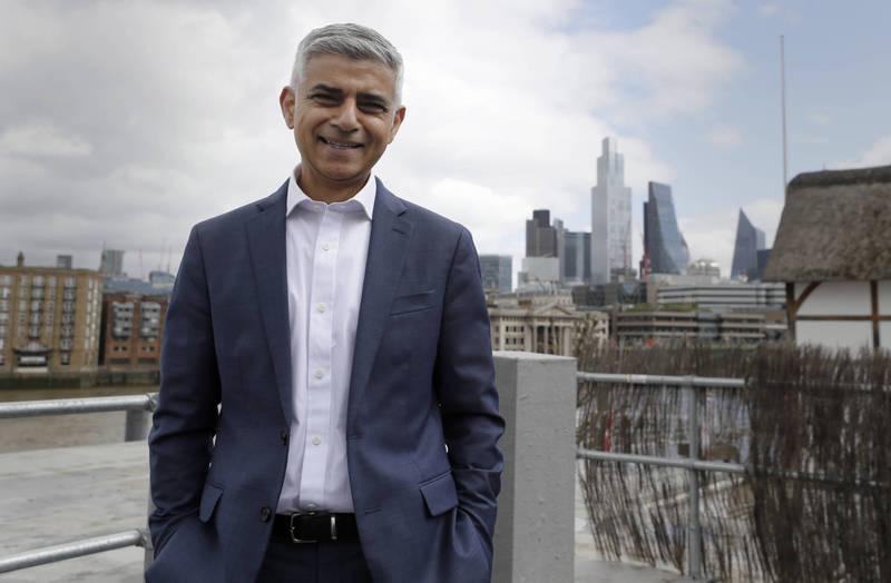 倫敦市長可汗。(美聯社)
