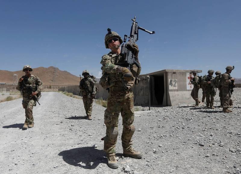 美軍持續撤離阿富汗,計畫8月底結束任務。(路透)