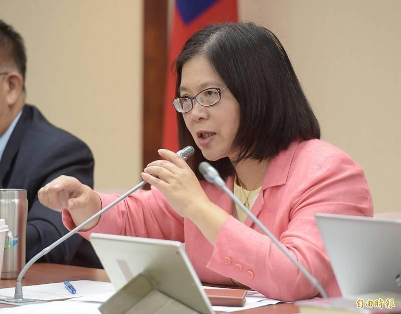 立委管碧玲表示,自己在關心英國疫情狀況時接獲台灣降級消息,覺得台灣相當幸運。(資料照)