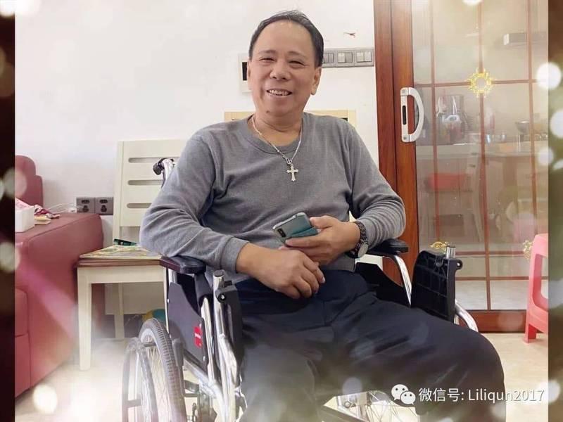 長期遭到中國政府監控迫害的廣東省異議人士李悔之,23日驚傳服毒身亡,享年62歲。(取自推特)