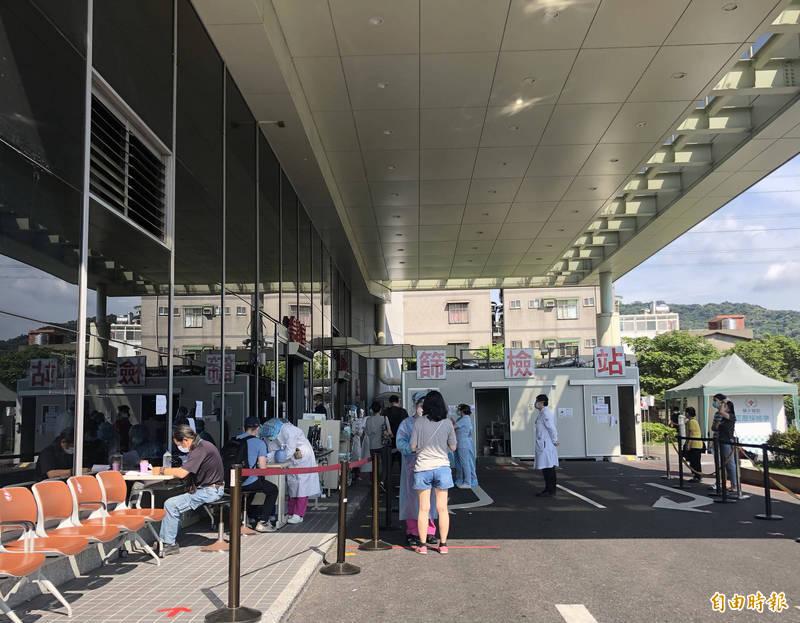 女網友控訴,前往輔大醫院篩檢站被工作人員騷擾。(記者周湘芸攝)