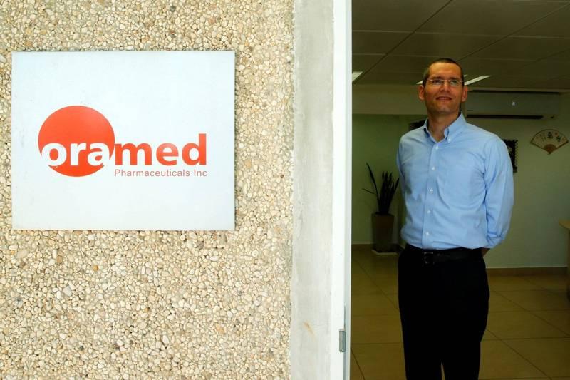 Oramed製藥公司執行長基德倫(Nadav Kidron,圖)表示,子公司Oravax Medical的口服武肺疫苗,將在以色列展開臨床試驗。(路透)
