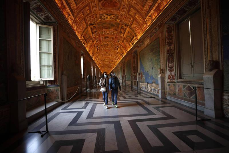 梵蒂岡博物館是梵蒂岡的重要收入來源,但因為疫情爆發被迫關閉。(美聯社資料照)