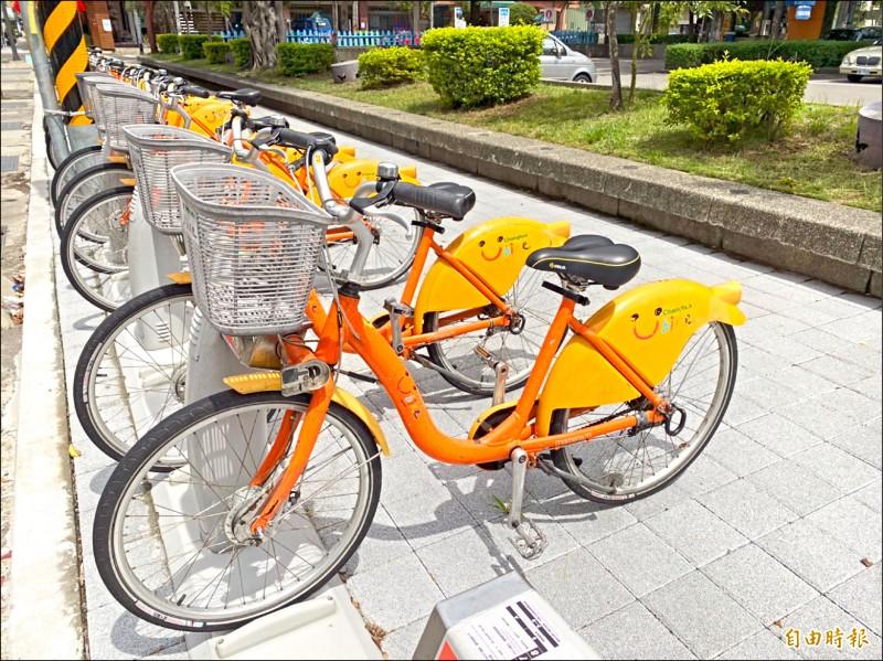 彰化縣公共自行車YouBike下週二、7月27日恢復營運。(記者張聰秋攝)