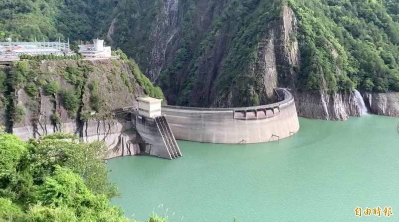 山區大雨,德基水庫水量一夜暴增534萬噸!(記者歐素美攝)
