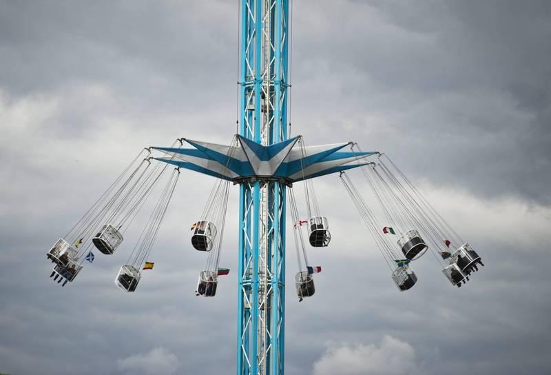 英遊樂園設施啟動後失控,乘客座位互相撞擊,造成6名乘客輕重傷。示意圖,非新聞當事設施。(歐新社)