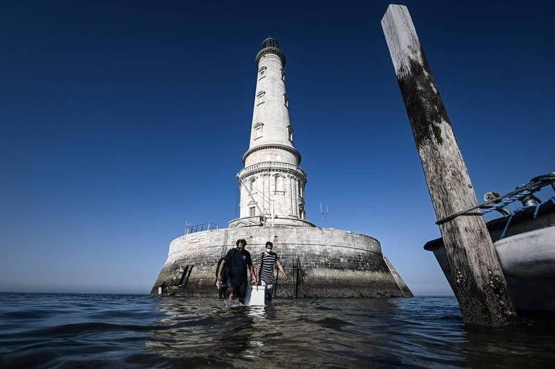 法國有「燈塔之王」美譽的哥杜昂燈塔(Cordouan beacon)。(法新社)