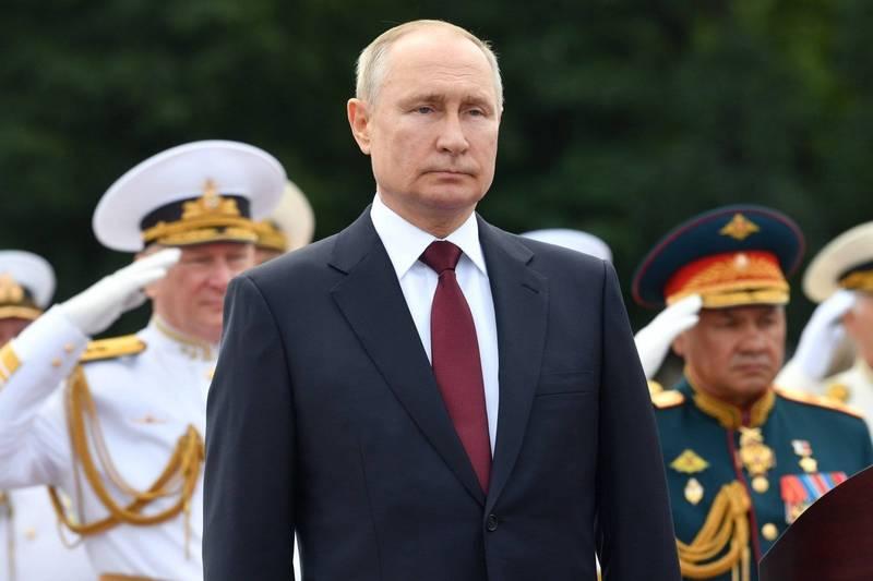 俄羅斯總統普廷在閱兵式時表示,若有必要,會對敵人發動「無法阻止的攻擊」。(美聯社)