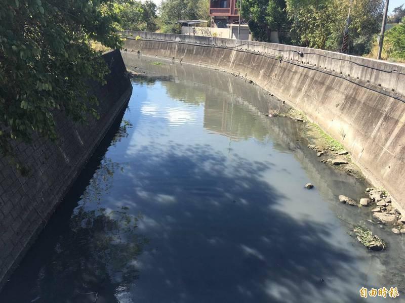 改善水質,竹南射流溝進行水環境計畫。(記者蔡政珉攝)