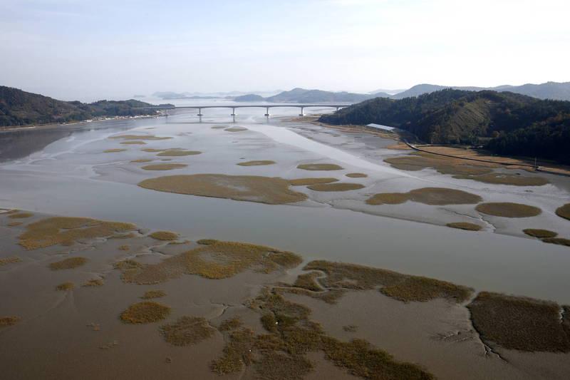 南韓潮灘列入世界遺產。(歐新社)