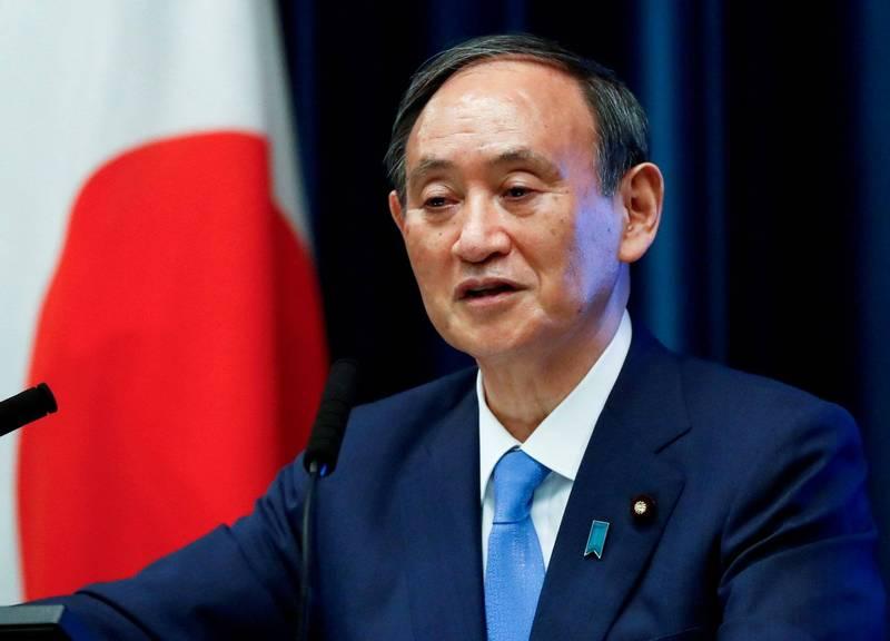 菅義偉內閣支持率下降至34%,創下菅義偉上任以來新低。(路透)