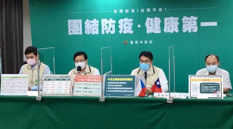 1922公費疫苗預約平台今上午10點起,開放民眾上網預約接種,開站僅4小時,台南市名額就已全數額滿。(南市府提供)