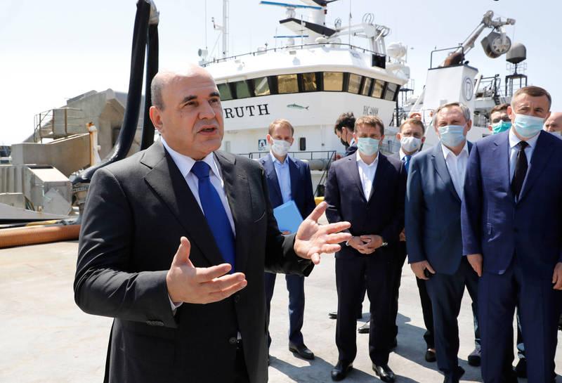 俄國總理米舒斯京(Mikhail Mishustin)造訪千島群島島嶼引發日本不滿。(美聯社)