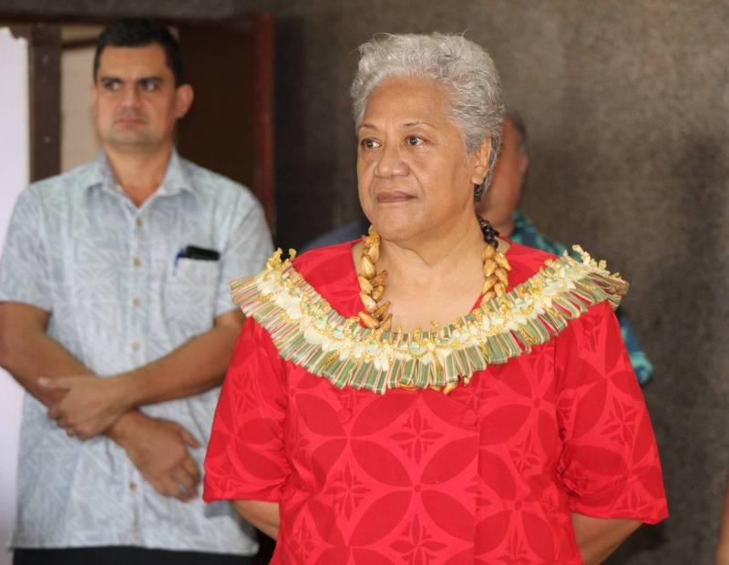 薩摩亞首位女性總理馬塔法27日正式上任。(圖翻攝自Government of Samoa臉書)