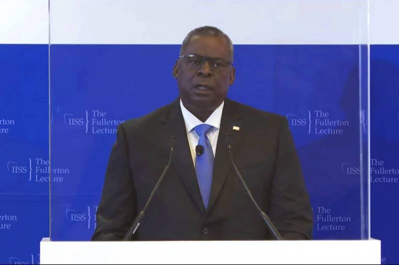 美國國防部長奧斯汀今天表示,中國不願以和平方式解決紛爭,不僅是在南海議題上,也包括以軍事動作脅迫台灣人民。(美聯社)