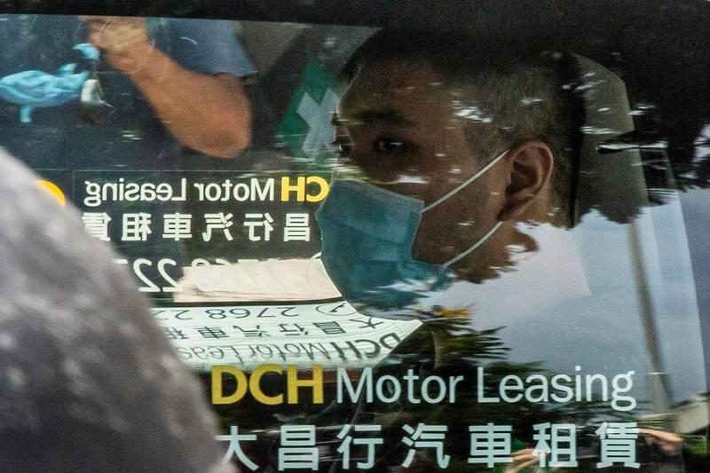今(27日)首宗國安法審訊結果出爐,香港男子唐英傑被裁定煽動分裂國家及恐怖活動罪名成立,最重恐判無期徒刑。(法新社)