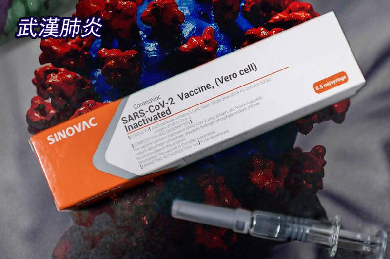 中國一份研究指出,科興疫苗提供的抗體在歷經6個月左右之後便會大幅減少。(法新社;本報合成)