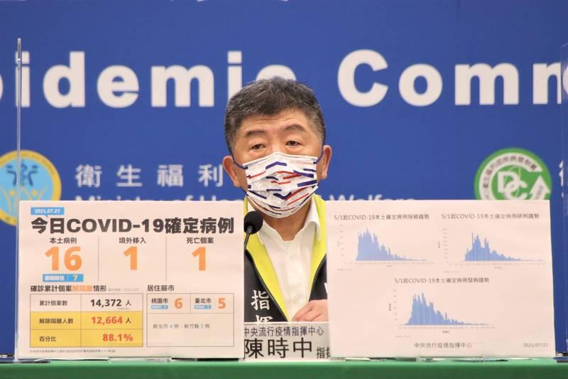 指揮中心指揮官陳時中表示,疫苗得先滿足國內需求,這點是不會變的,也會根據友邦和國際情勢預作準備,不會影響到國內接種情況。(圖由指揮中心提供)