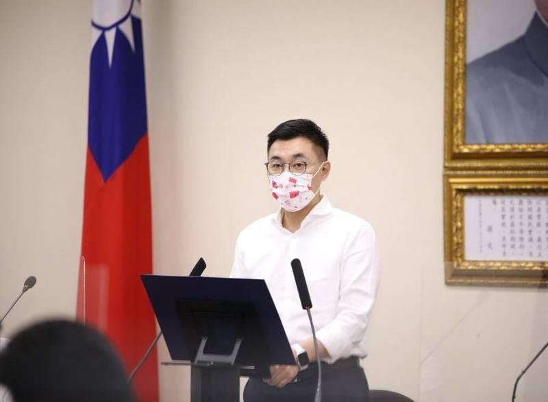 國民黨主席江啟臣今日宣布,將在登記黨主席候選人後,正式請假參選。(圖由國民黨提供)