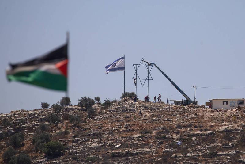 約旦河西岸地區傳出以巴軍民死傷衝突。(美聯社)