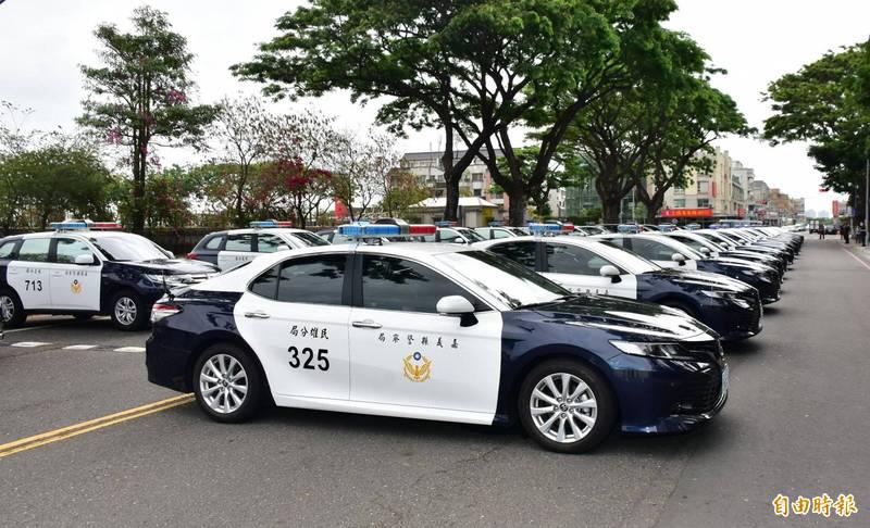 警車示意圖。