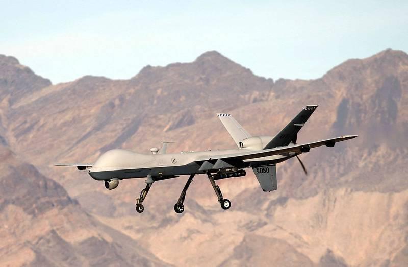 美軍近期大幅增加在阿富汗的空襲次數。圖為美軍MQ-9無人機。(法新社)