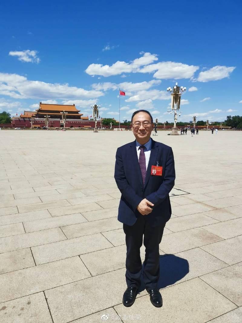 中國人民大學金燦榮教授,23日發文暗指鄭州水災是美國使用氣象武器所致。(圖翻攝自微博)