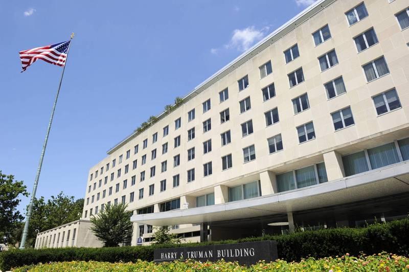 美國國務院總部與國務卿辦公室位在華盛頓特區的哈里·S·杜魯門大樓(Harry S Truman Building )。(歐新社)
