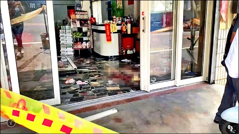 雲林西螺昨天發生凶殺案,警方封鎖現場。 (圖由讀者提供)