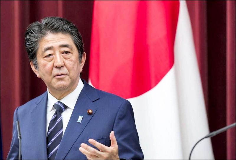 日本前首相安倍晉三。(彭博資料照)