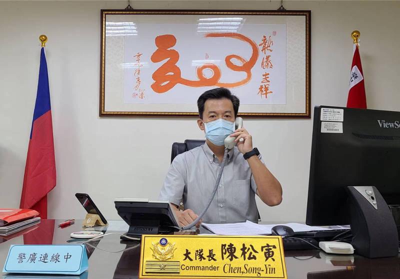 台中市警局交大大隊長陳松寅。(記者許國楨翻攝)