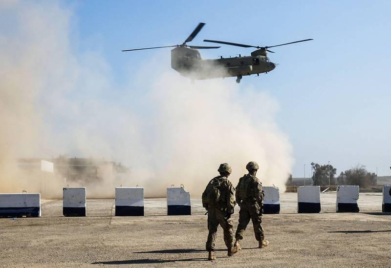 伊拉克1架軍用直升機今在伊拉克北部的一次作戰行動中墜毀,機上5人全員陣亡。伊拉克軍方直升機示意圖,與本新聞無關。(法新社)