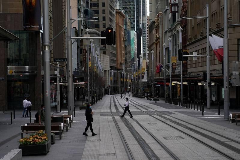 新南威爾斯州大雪梨地區延長封鎖1個月,但新州卻連兩日確診數創新高。圖為雪梨街景。(路透)