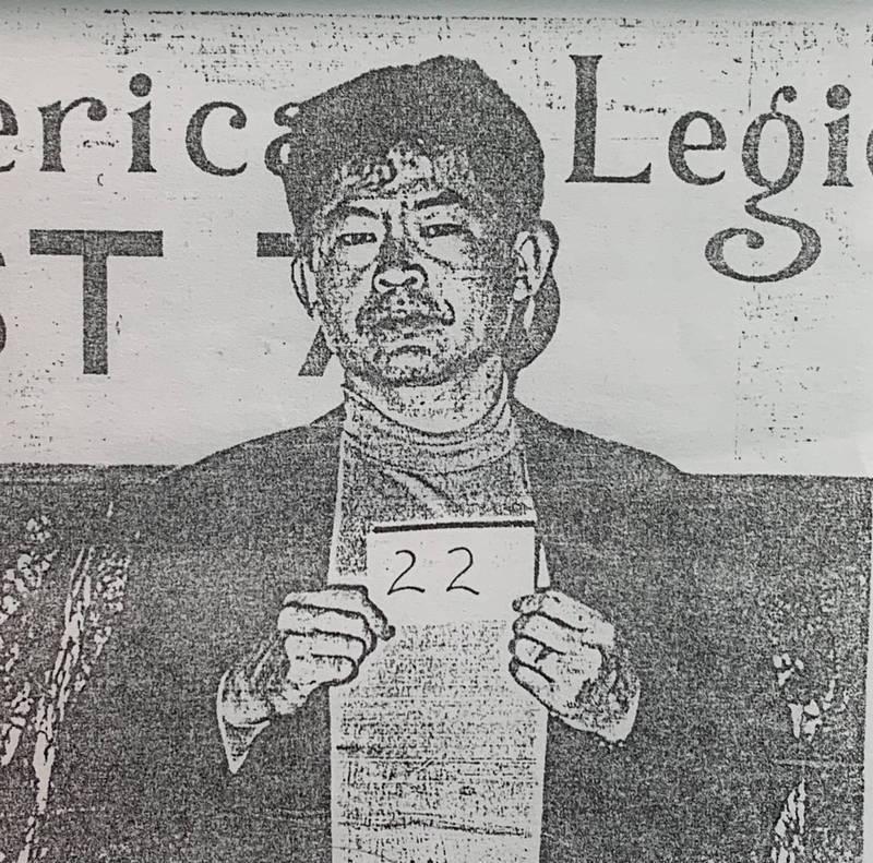 「美鷹會」大哥王鑫在美國曾被捕。(記者莊榮宏翻攝)
