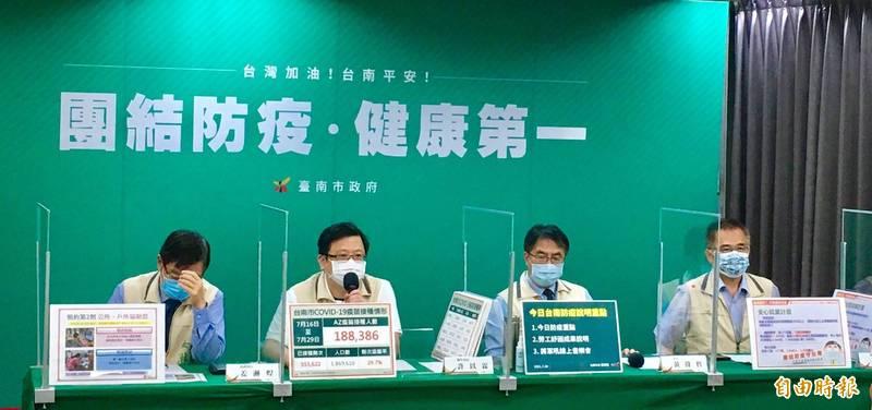嘉義縣爆群聚傳染事件,台南市1人被匡列為接觸者,南市府強調該員一採呈陰性。(記者王姝琇攝)