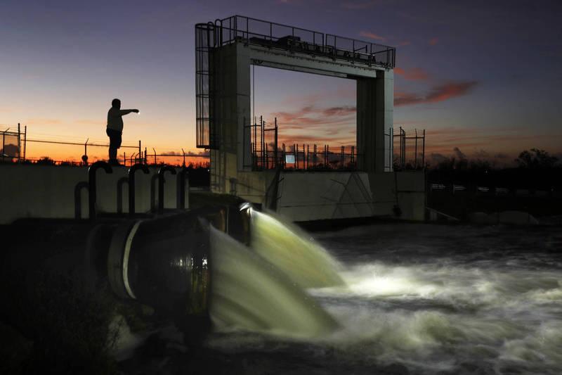 研究人員2年前曾於塔米亞米運河捕獲1條約60公分的陰莖蛇,隨後又在同一條運河中發現牠們的蹤跡。圖為塔米亞米運河。(美聯社)
