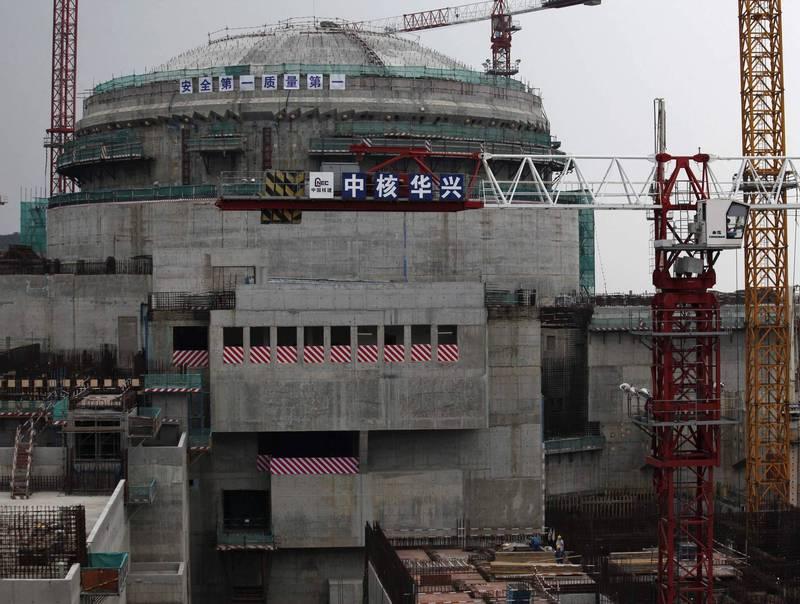 中國廣東台山核電廠因燃料棒破損,決定停機維修。(路透資料照)