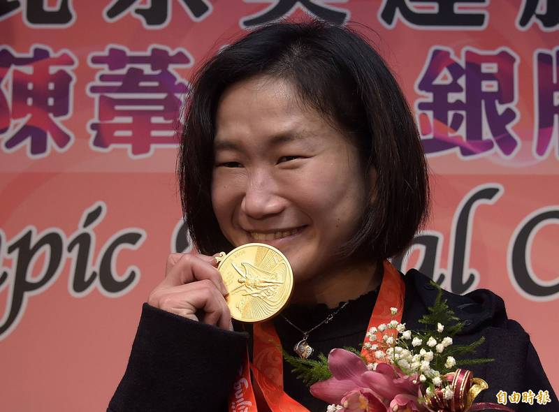 陳葦綾參加2008北京奧運女子舉重48公斤量級賽事,2018年才拿到本應屬於她的金牌。(資料照)