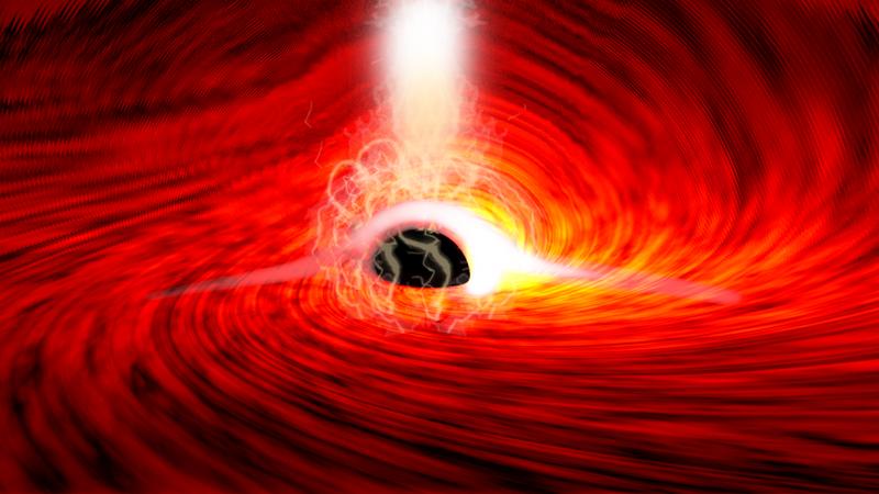 美國加州史丹佛大學發布的最新研究,首次觀測到黑洞背後扭曲的光,證實了愛因斯坦的相對論。(圖取自Stanford University新聞稿)