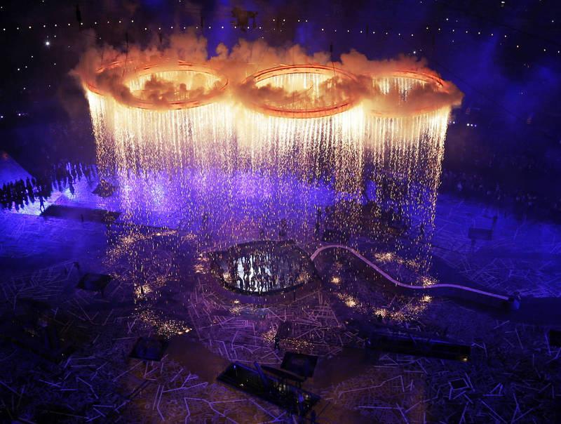 2012年倫敦奧運開幕式。(美聯社)