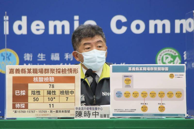 陳時中說,針對疫苗登記狀況和疫苗登記平台陸續有時間差等問題,明天下午會在行政院和預約平台單位通盤檢討。(中央流行疫情指揮中心提供)