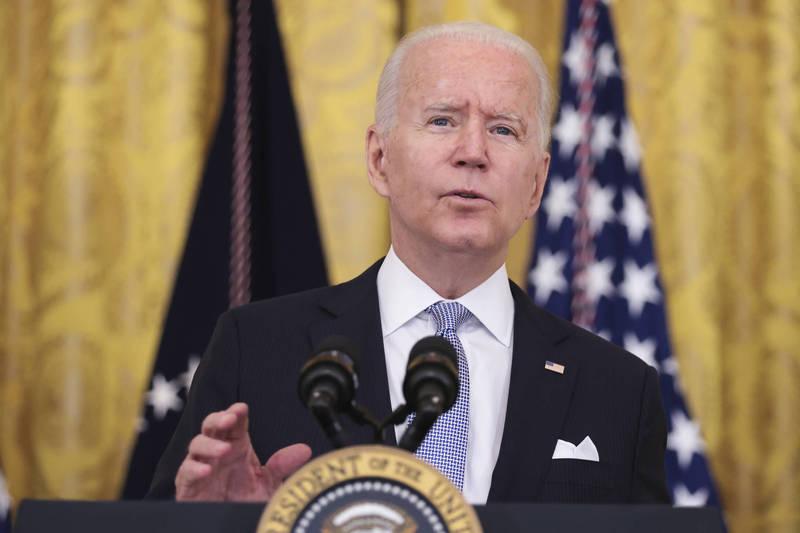 美總統拜登為因應Delta變種病毒推行新防疫指南。(彭博)