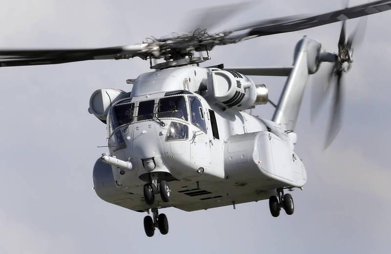 美國務院同意出售以色列18架CH-53K「種馬王」直升機。(美聯社)