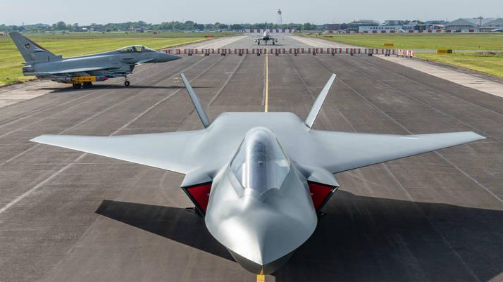 英國第六代戰機「暴風雨」(Tempest)概念圖。(翻攝自貝宜系統公司)
