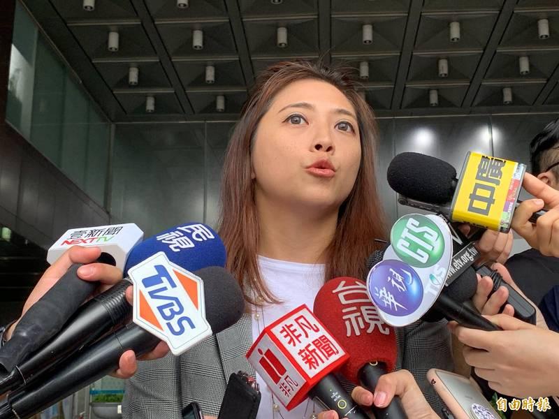 民眾黨發言人陳思宇(見圖)「盛讚」林昀儒是「桌球界的戴資穎」,卻引起大批網友批評。(資料照)